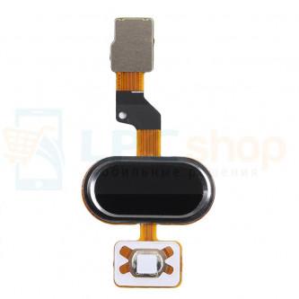 Шлейф Meizu M3s mini на кнопку HOME в сборе Черный