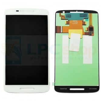 Дисплей для Motorola Moto X Play  в сборе с тачскрином Белый