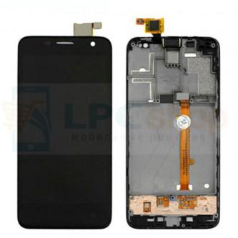 Дисплей для Alcatel OT-6012D / OT-6012X (Idol Mini) в сборе с рамкой Черный
