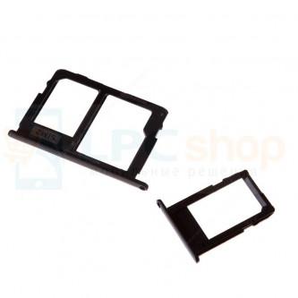 Лоток SIM и MicroSD Samsung Galaxy J5 (2017) J530F / J7 (2017) J730F (комплект 2 шт.) Черный