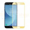 2,5D Защитное стекло (Full Screen) для Samsung J3 (2017) J330F (полное покрытие) Золото