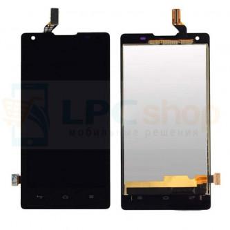 Дисплей для Huawei Ascend G700 в сборе с тачскрином Черный