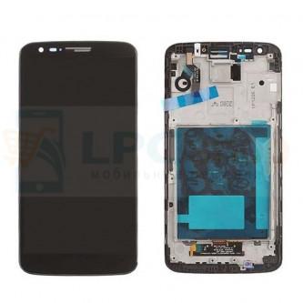Дисплей для LG G2 D802 в сборе с рамкой Черный (20 pin)