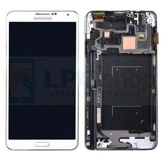 Дисплей для Samsung Galaxy Note 3 LTE N9005 в сборе с рамкой Белый - Оригинал