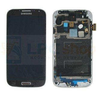 Дисплей для Samsung Galaxy S4 I9505 в сборе с рамкой Коричневый - Оригинал