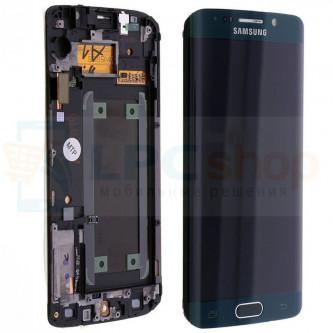 Дисплей для Samsung Galaxy S6 Edge G925F в сборе с рамкой Зеленый - Оригинал