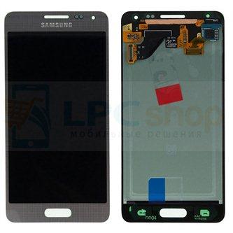 Дисплей для Samsung Galaxy Alpha G850F в сборе с тачскрином Серебро - Оригинал