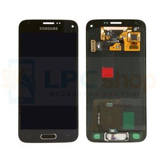 Дисплей для Samsung G800F / G800H / S5 mini / S5 mini Duos в сборе с тачскрином Золото - Оригинал