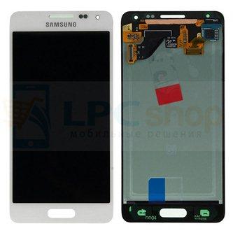 Дисплей для Samsung Galaxy Alpha G850F в сборе с тачскрином Белый - Оригинал