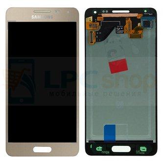 Дисплей для Samsung Galaxy Alpha G850F в сборе с тачскрином Золото - Оригинал