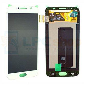 Дисплей для Samsung Galaxy S6 G920F / S6 Duos G920FD  в сборе с тачскрином Белый - Оригинал