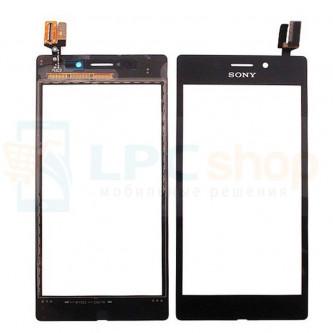 Тачскрин (сенсор) для Sony Xperia M2 Aqua D2403 Черный
