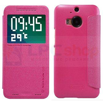 """Чехол-книжка Nillkin """"Sparkle"""" для HTC One M9 Plus - Красный"""