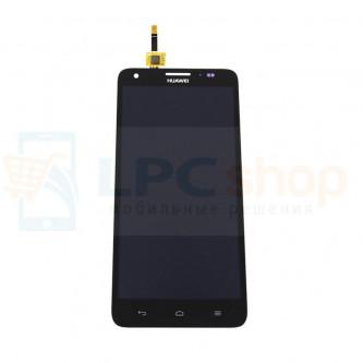 Дисплей для Huawei Honor 3X в сборе с тачскрином Черный
