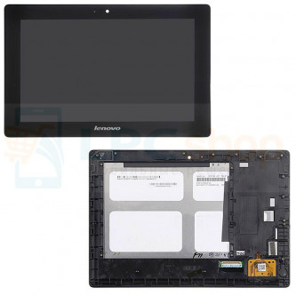 Дисплей для Lenovo IdeaTab S6000 в сборе с рамкой Черный