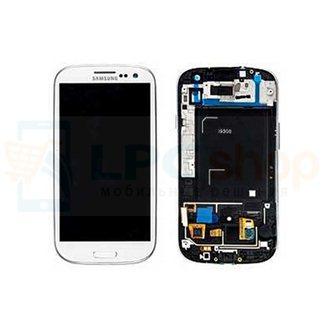 Дисплей для Samsung Galaxy S3 i9300 в сборе с рамкой Белый - Оригинал