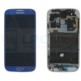 Дисплей для Samsung Galaxy S4 I9500 в сборе с рамкой Синий