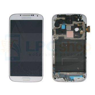 Дисплей для Samsung Galaxy S4 I9505 в сборе с рамкой Белый