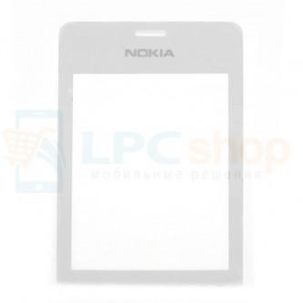 Стекло (для переклейки) Nokia 515 Dual Белое
