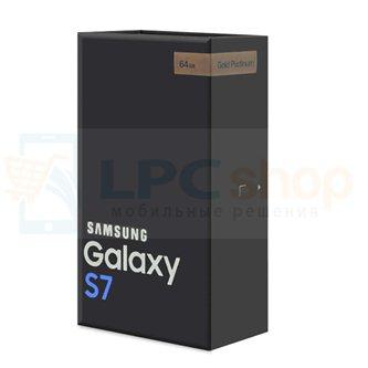 Коробка для Samsung G930 Galaxy S7 Золотая