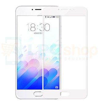 2,5D Защитное стекло (Full Screen) для Meizu M3 Note (полное покрытие) Белое