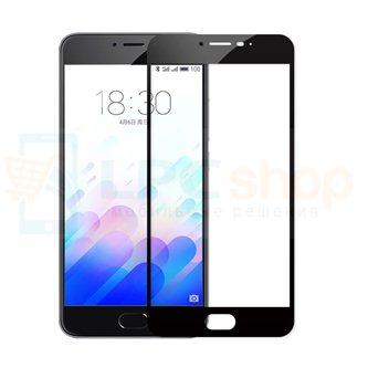 2,5D Защитное стекло (Full Screen) для Meizu M3 Note (полное покрытие) Черное