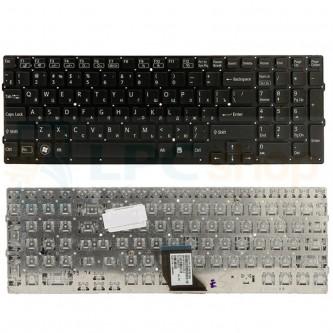Клавиатура для ноутбука Sony VPC-CB / VPC-CB17 черная без рамки