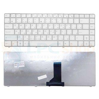 Клавиатура для ноутбука Asus A42 / K42 / U36 белая с рамкой