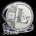 Монета Лайткоинт (LiteCoin) сувенирная Серебро (не являются платёжным средством)