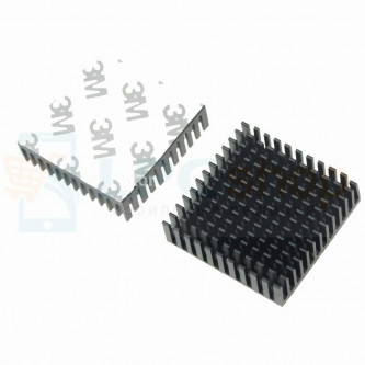 Радиатор (Теплоотвод) Алюминиевый 40 мм х 40 мм х 11 мм Черный со скотчем