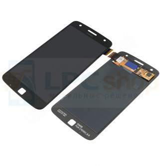 Дисплей для Motorola Moto Z Play в сборе с тачскрином Черный