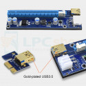 "Райзер для видеокарт PCI-E 1x to 16x USB 3.0 Ver 009s ""6PIN+Sata"" 55см Золотой Gold Edition"