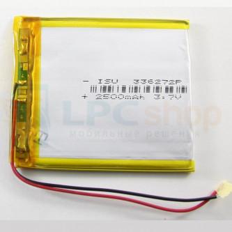Аккумулятор универсальный 336272p 3,7v Li-Pol 2500 mAh (3.3*72*62 mm)