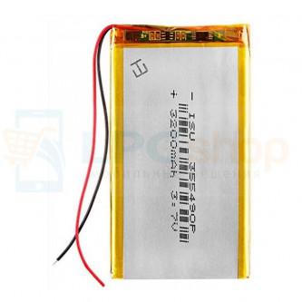 Аккумулятор универсальный 355490p 3,7v Li-Pol 3200 mAh (3.5*54*90 mm)