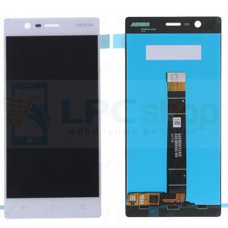 Дисплей для Nokia 3 в сборе с тачскрином Белый