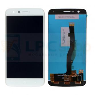 Дисплей для ZTE Blade V8 Lite в сборе с тачскрином Белый