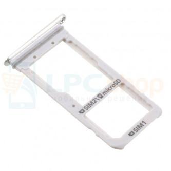 Лоток сим карты и карты памяти Samsung S7 Edge G935FD Dual (2 сим карты) Серебро