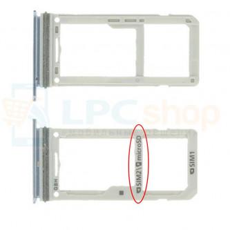 Лоток сим-карты и карты памяти Samsung S8 Dual G950FD / S8 Plus Dual G955FD Голубой