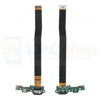 Шлейф разъема зарядки разъема зарядки Huawei Honor 6C (плата) и микрофон P/N 02351EYN