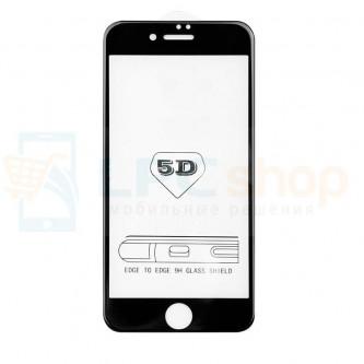 5D Бронестекло (защитное стекло) для iPhone 6 Plus / iPhone 6S Plus (полное покрытие 5D) 0,3мм Черное