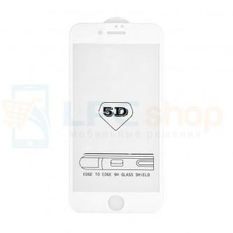 2,5D Защитное стекло (Full Screen) для iPhone 6 / 6S (полное покрытие 5D) 0,3мм Белое