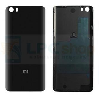 Задняя крышка Xiaomi Mi5 Черная (СТЕКЛО) (глянцевая)