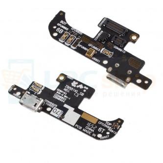 Шлейф разъема зарядки Asus ZB501KL (ZenFone 3) (плата) и микрофон
