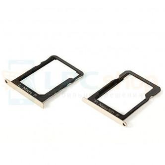 Лоток сим карты и карты памяти Huawei Ascend Mate 7 Золотой (комплект 2шт)