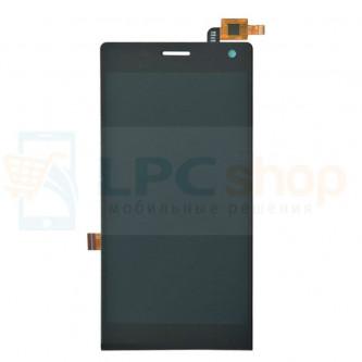 Дисплей для Highscreen Verge / DEXP Ixion MS150 в сборе с тачскрином Черный