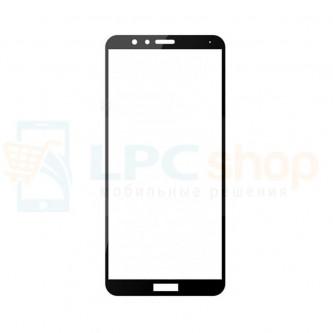 2,5D Защитное стекло (Full Screen) для Huawei Honor 7X Черное (полное покрытие)
