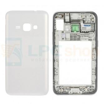 Корпус Samsung J120F (J1 2016) Белый с линзой камеры и кнопками