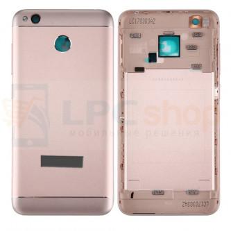 Крышка(задняя) Xiaomi Redmi 4X Розовый + кнопки и линза камеры