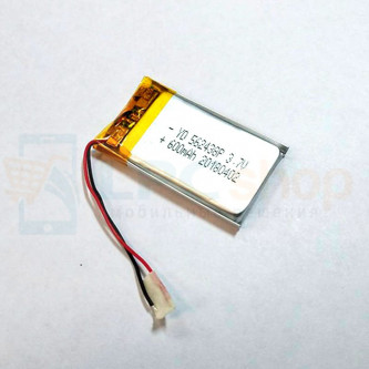 Аккумулятор универсальный 562438p 3,7v Li-Pol 600 mAh (56*24*38 mm)