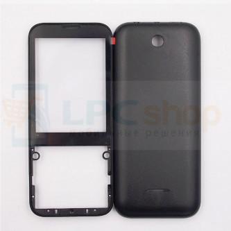Корпус Nokia 225 / 225 Dual Черный + Стекло